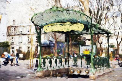 Subway Entrance II - In the Style of Oil Painting-Philippe Hugonnard-Giclee Print