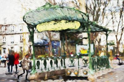 Subway Entrance - In the Style of Oil Painting-Philippe Hugonnard-Giclee Print