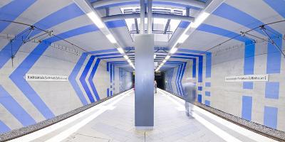 Subway Station In Stuttgart, Germany-Axel Brunst-Photographic Print
