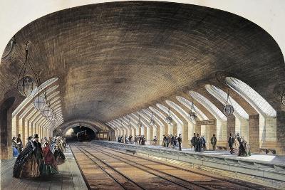 Subway Tunnels in London, England, United Kingdom, 19th Century--Giclee Print