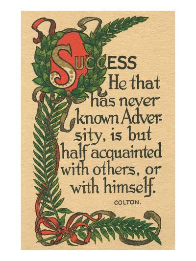 Success, Colton Quote--Art Print