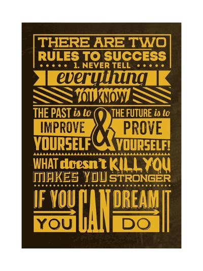 Success Set Yellow-Lorand Okos-Art Print
