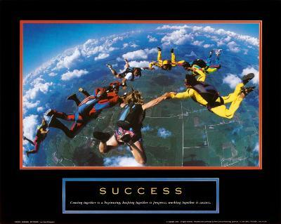 Success: Skydivers--Art Print
