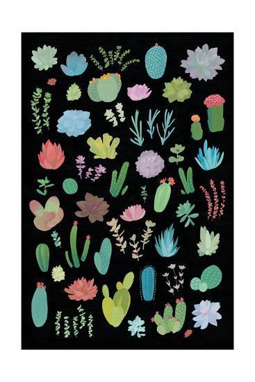 Succulaen Chart 1-Wild Apple Portfolio-Art Print