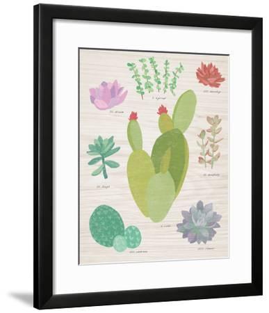 Succulent Chart III on Wood-Wild Apple Portfolio-Framed Art Print