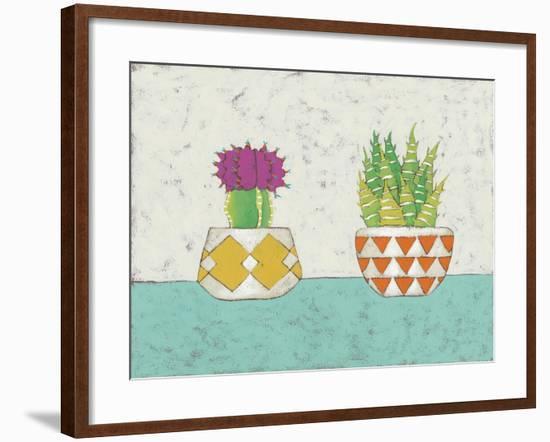 Succulent Duo II-Chariklia Zarris-Framed Art Print
