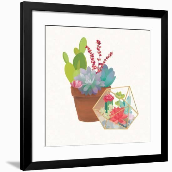 Succulent Garden II-Wild Apple Portfolio-Framed Art Print