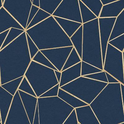 Succulent Pattern Navy-Wild Apple Portfolio-Art Print