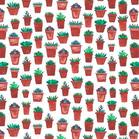 Succulent Pots-Elena O'Neill-Art Print