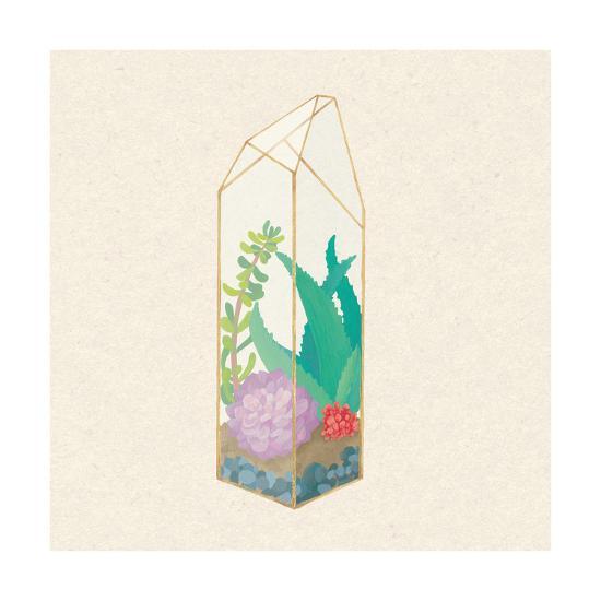 Succulent Terrarium I-Wild Apple Portfolio-Art Print