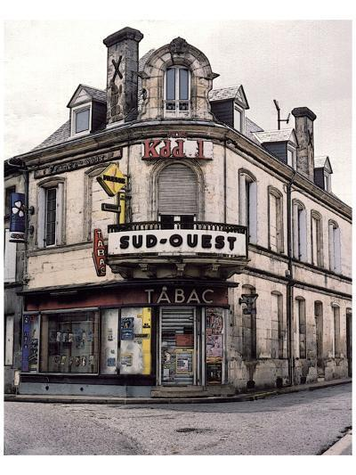 Sud-Ouest Tabac Store at the Corner-Richard Sutton-Art Print