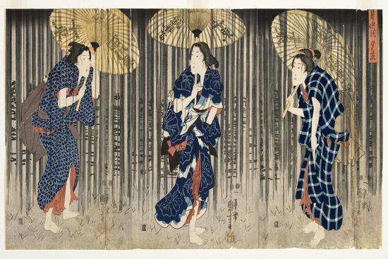 Sudden Shower in the Summer, C.1849-51-Utagawa Kuniyoshi-Giclee Print