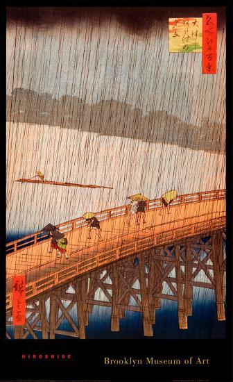 Sudden Shower-Ando Hiroshige-Art Print