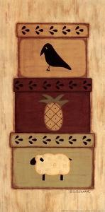 Crow, Pineapple by Sue Allemand