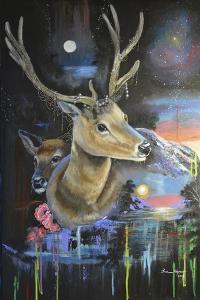 Atmosperic Deers by Sue Clyne