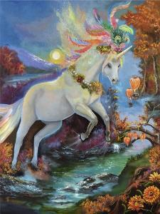 Colour-Fall Unicorn by Sue Clyne