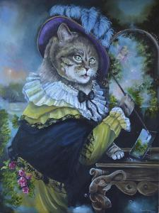 Fancy a Cat Painting by Sue Clyne