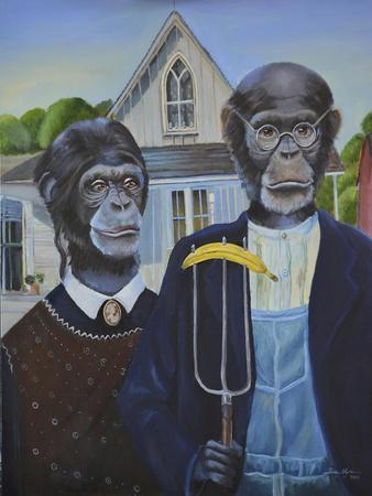 Monkey American Gothic