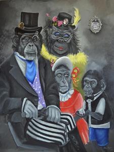 Monkey Portrait by Sue Clyne