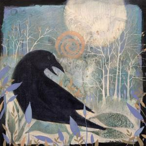 Crow and Moon by Sue Davis