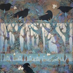 Crows and Waterlilies by Sue Davis
