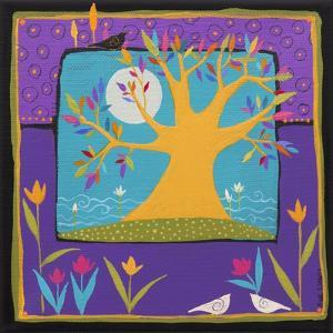 Magic Tree With Waterlilies by Sue Davis