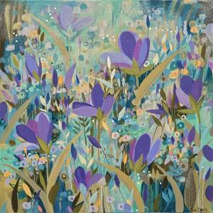 Purple Flowers by Sue Davis