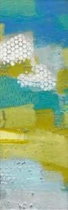 Teal Dot Panels II by Sue Jachimiec