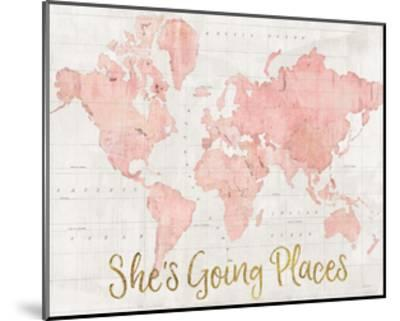 Across the World Shes Going Places Pink by Sue Schlabach
