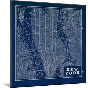 Blueprint Map New York Square by Sue Schlabach