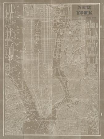 Blueprint Map New York Taupe