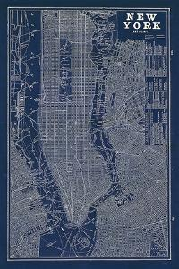 Maps of new york artwork for sale posters and prints at art blueprint map new yorksue schlabach malvernweather Images