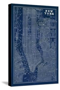 Maps of new york canvas artwork for sale posters and prints at art blueprint map new york malvernweather Choice Image