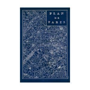 Blueprint Map Paris by Sue Schlabach