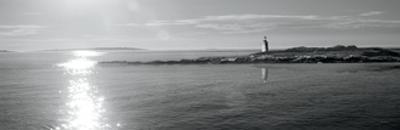 Lighthouse Sound Black and White Crop by Sue Schlabach