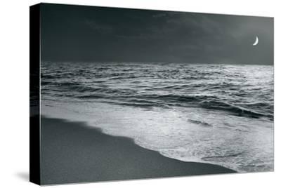 Moonrise Beach Black and White