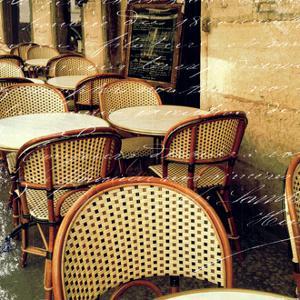 Paris Bistro Letter by Sue Schlabach
