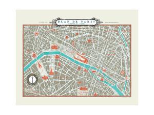 Plan de Paris Map by Sue Schlabach