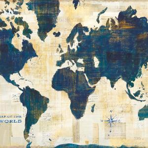 Maps giclee prints artwork for sale posters and prints at art world map collage v2 gumiabroncs Image collections