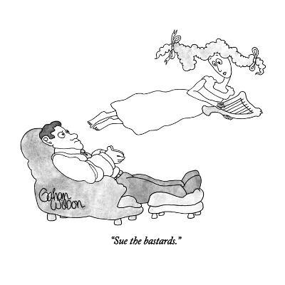 """Sue the bastards."" - New Yorker Cartoon-Gahan Wilson-Premium Giclee Print"