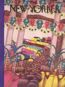 The New Yorker Cover - January 5, 1929 by Sue Williams
