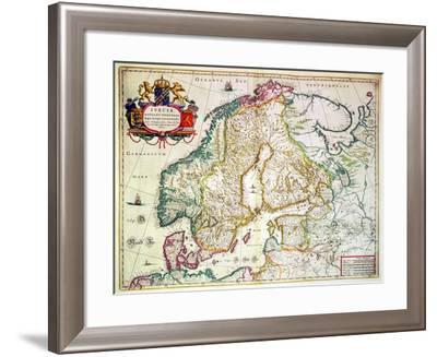 Suecia, Dania Et Norvegia, Regna Europae--Framed Giclee Print