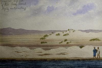 Suez Canal, from Frederick Stibbert's Sketch Book--Giclee Print