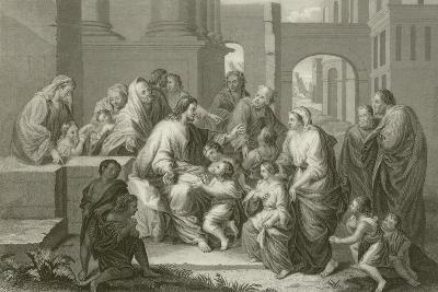 Suffer Little Children to Come Unto Me-Jean-Baptiste Jouvenet-Giclee Print