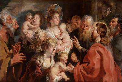 Suffer the Little Children to Come Unto Me, 1615-16-Jacob Jordaens-Giclee Print