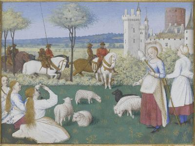 Suffrage des Saints du Livre d'Heures d'Etienne Chevalier : Sainte Marguerite et Olibrius dit-Jean Fouquet-Giclee Print