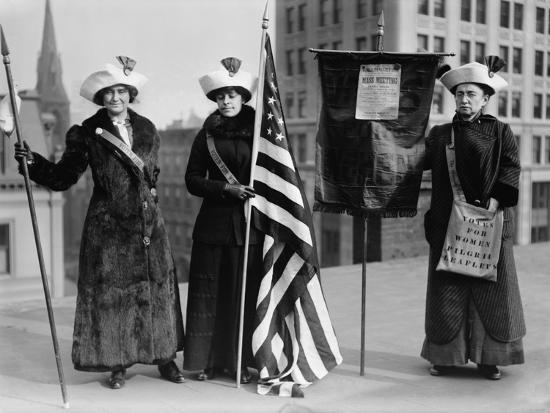 Suffrage Hike of 1912 from Manhattan to Albany Got Attention for Woman's Rights--Photo