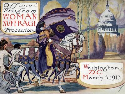 Suffragette Parade, 1913--Giclee Print