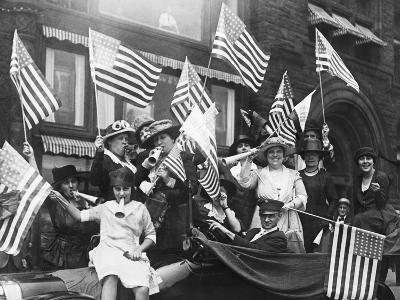 Suffragettes Celebrating Passing of 19Th Amendment--Photographic Print