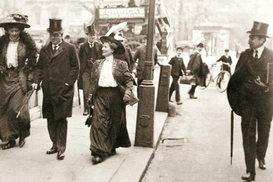 Suffragettes trying to speak to the Prime Minister, London, 1908-Unknown-Photographic Print